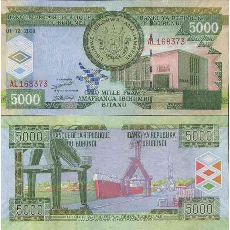 Billet de banque collection Burundi - PK N° 48 - 5 000 FRANC