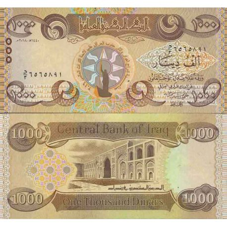 Banknote collection Iraq - PK N ° 999 - 1000 Dinar