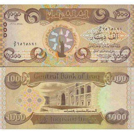 Billet de banque collection Irak - PK N° 999 - 1 000 Dinar