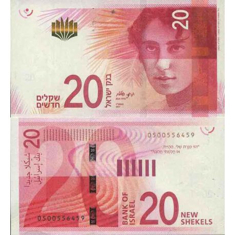 Billet de banque collection Israël - PK N° 999 - 20 Sheqel