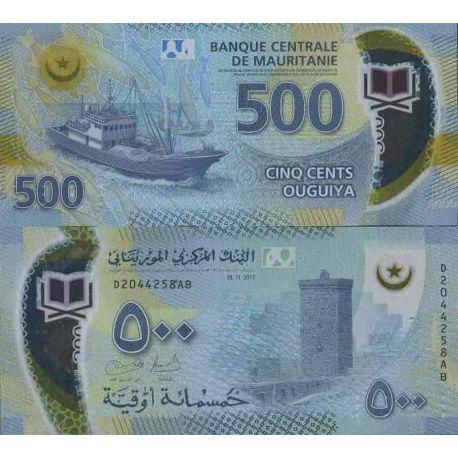 Colección de billetes de Mauritania - PK N ° 999 - 500 Quguiya