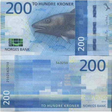 Billet de banque collection Norvège - PK N° 55 - 200 Krone