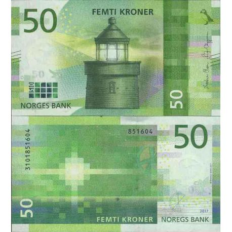 Billets de collection Billet de banque collection Norvège - PK N° 999 - 50 Krone Billets de Norvege 19,00 €
