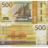 Colección de billetes Noruega - PK N ° 999 - 500 Krone