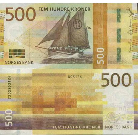Billet de banque collection Norvège - PK N° 999 - 500 Krone