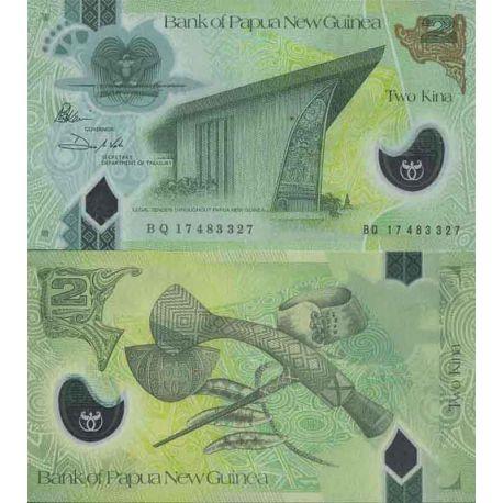 Billet de banque collection Papouasie - Nouvelle Guinée - PK N° 999 - 2 Kina
