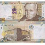 Colección de billetes Perú - PK N ° 999 - 20 Piso