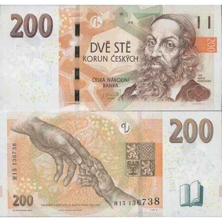 Billet de banque collection Tchèque République - PK N° 19 - 200 Koruna