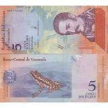 Billet de banque collection Venezuela - PK N° 999 - 5 Bolivares