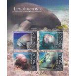 Bloc de 4 timbres Thème Les Dugongs du niger