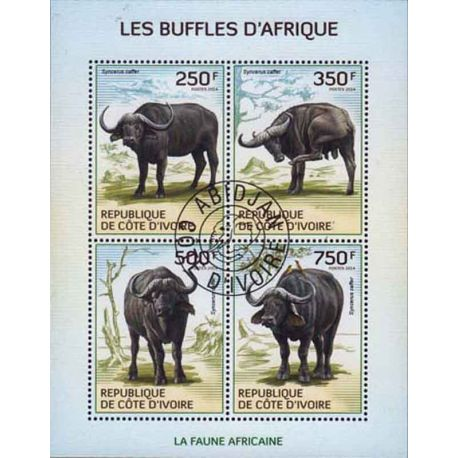 Timbre collection Côte d'Ivoire N° Yvert et Tellier 1266/1269 Neuf sans charnière