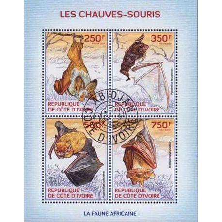 Timbre collection Côte d'Ivoire N° Yvert et Tellier 1270/1273 Neuf sans charnière