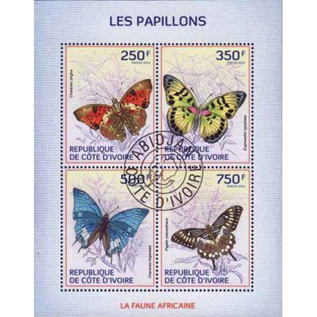 Timbre collection Côte d'Ivoire N° Yvert et Tellier 1278/1281 Neuf sans charnière