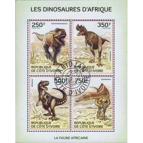 Timbre collection Côte d'Ivoire N° Yvert et Tellier 1286/1289 Neuf sans charnière