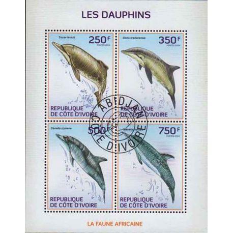 Timbre collection Côte d'Ivoire N° Yvert et Tellier 1290/1293 Neuf sans charnière