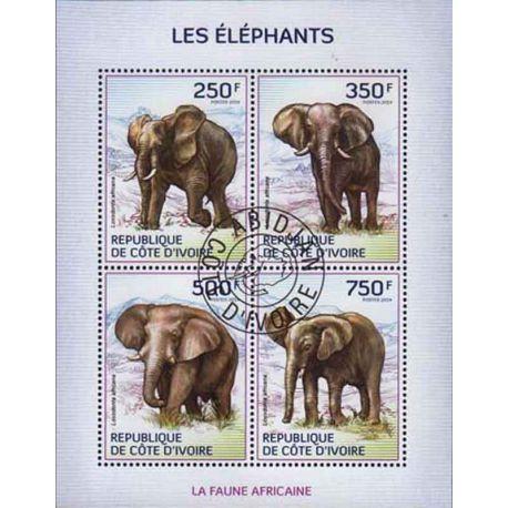 Timbre collection Côte d'Ivoire N° Yvert et Tellier 1294/1297 Neuf sans charnière