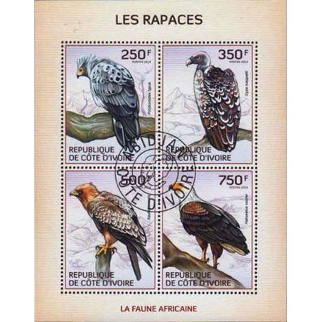 Timbre collection Côte d'Ivoire N° Yvert et Tellier 1310/1313 Neuf sans charnière