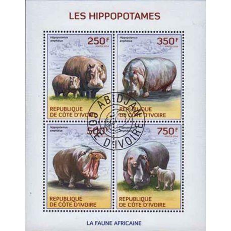 Timbre collection Côte d'Ivoire N° Yvert et Tellier 1314/1317 Neuf sans charnière
