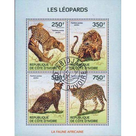 Timbre collection Côte d'Ivoire N° Yvert et Tellier 1322/1325 Neuf sans charnière