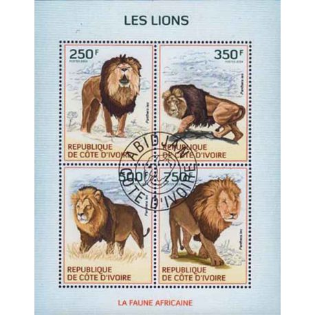 Timbre collection Côte d'Ivoire N° Yvert et Tellier 1326/1329 Neuf sans charnière
