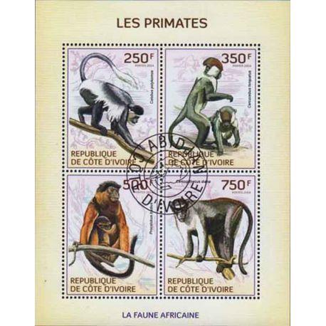 Timbre collection Côte d'Ivoire N° Yvert et Tellier 1338/1341 Neuf sans charnière
