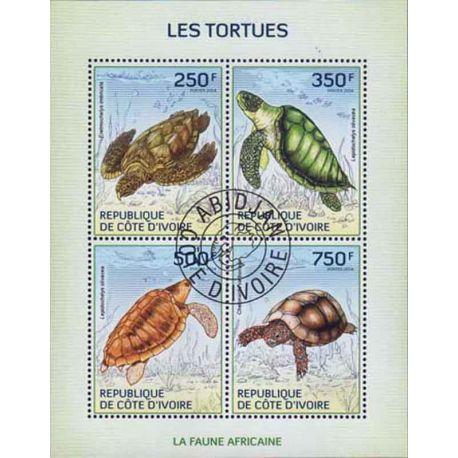 Timbre collection Côte d'Ivoire N° Yvert et Tellier 1346/1349 Neuf sans charnière