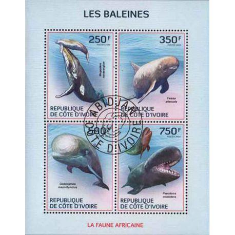 Timbre collection Côte d'Ivoire N° Yvert et Tellier 1354/1357 Neuf sans charnière