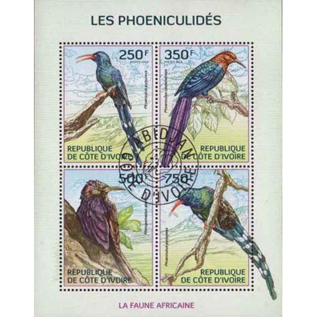 Timbre collection Côte d'Ivoire N° Yvert et Tellier 1358/1361 Neuf sans charnière