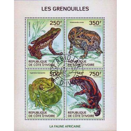 Timbre collection Côte d'Ivoire N° Yvert et Tellier 1306/1309 Neuf sans charnière
