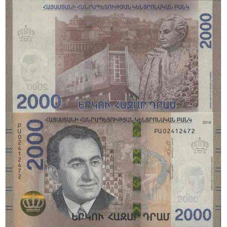 Billet de banque collection Arménie - PK N° 999 - 2 000 Dram