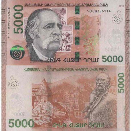 Billet de banque collection Arménie - PK N° 999 - 5 000 Dram