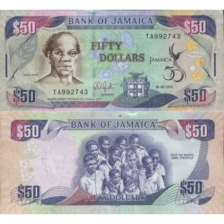 Billet de banque collection Jamaïque - PK N° 89 - 50 Dollar