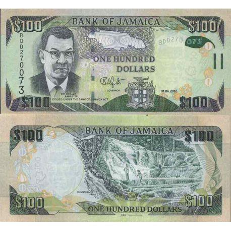 Billet de banque collection Jamaïque - PK N° 95 - 100 Dollar