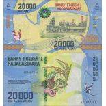 Banknote Madagascar collection - PK N° 104 - 20,000 Franc