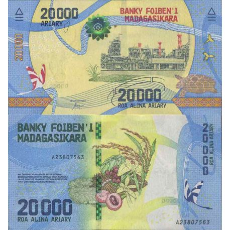 Billet de banque collection Madagascar - PK N° 104 - 20 000 Franc