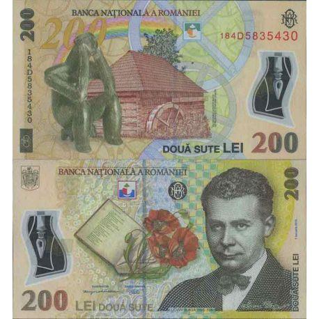 Billet de banque collection Roumanie - PK N° 999 - 200 Leu