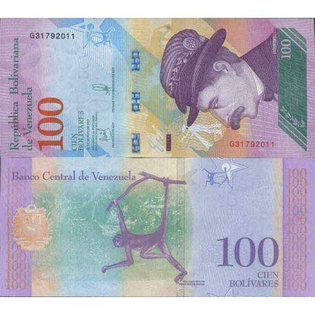 Billet de banque collection Venezuela - PK N° 999 - 100 Bolivar