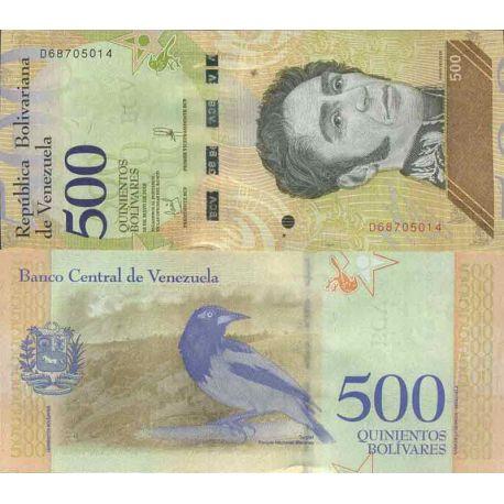 Billet de banque collection Venezuela - PK N° 999 - 500 Bolivar