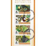 Bloc de 4 timbres Thème Les Papillons des Iles Salomon