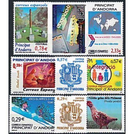 Sellos Andorra Española 2006 en Año completo