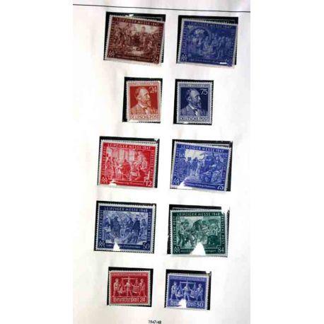 Collection de timbres RFA + Berlin, de 1946 à 1968