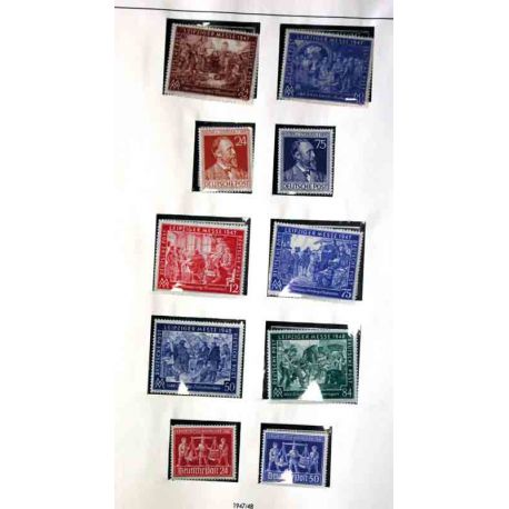 Collection de timbres RFA + Berlin, de 1946 à 1968