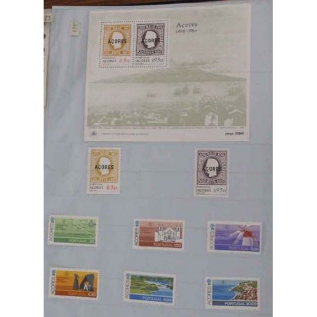 Collection de timbres ** des Açores, 1980 à 2006