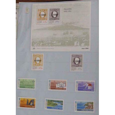 Collection de timbres ** des Açores, 1980 à 2006