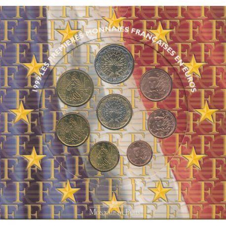 France 1999 Série euro en coffret brillant universel