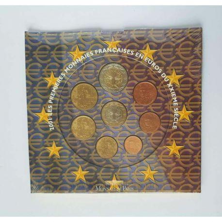 France 2001 Série euro en coffret brillant universel