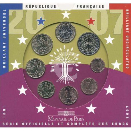 France 2007 Série euro en coffret brillant universel