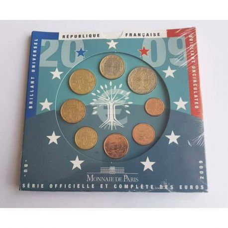 France 2009 Série euro en coffret brillant universel
