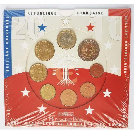 France 2010 Série euro en coffret brillant universel