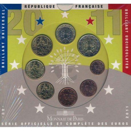 France 2011 Série euro en coffret brillant universel